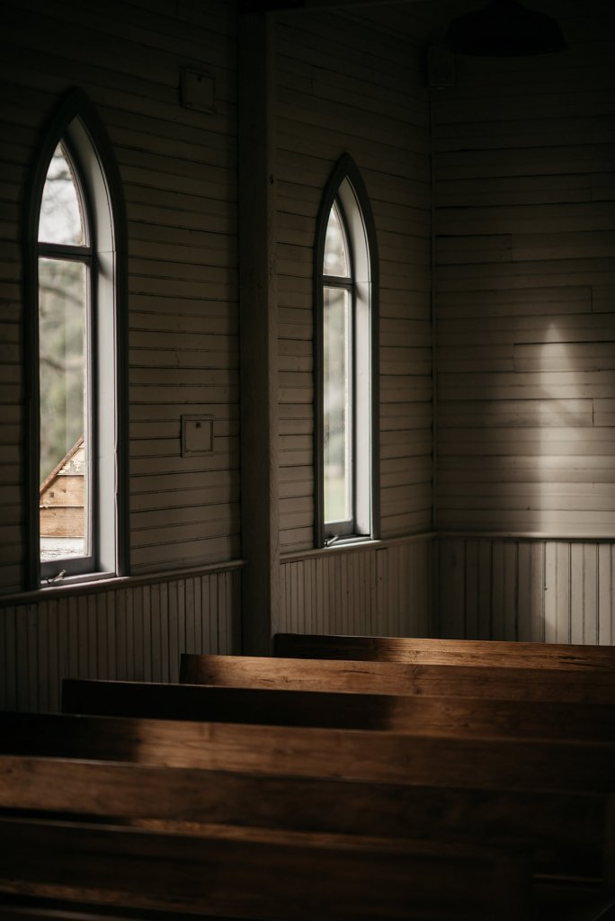 wooden chapel interior